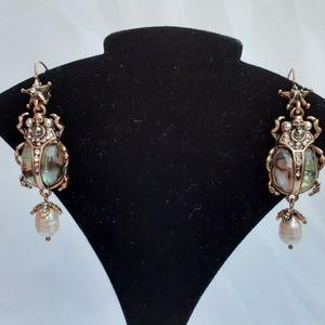Alexander McQueen Signed Scarab/Beetle Earrings